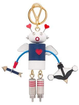 Prada Cupido Saffiano Leather Keychain Trick