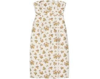 Tory Burch Floral Jacquard Bustier Dress