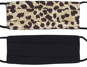 Echo Leopard & Solid Face Masks, Set of 2