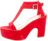 Loeffler Randall T-Strap Platform Sandals