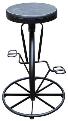 "Christopher Knight Home Michaelo Adjustable Bicycle Wheel 34.75"" Barstool"