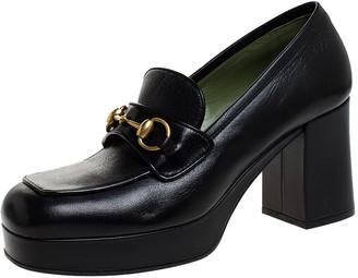 Gucci Black Leather Horsebit Pumps Size 41
