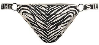 Stella McCartney Zebra-Print Low-Rise Bikini Bottom