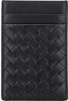 Bottega Veneta Men's Intrecciato Money Clip Card Case-BLACK