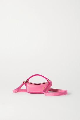 Jacquemus Le Nani Mini Textured-leather Tote - Pink