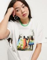 Converse Peace print white t-shirt