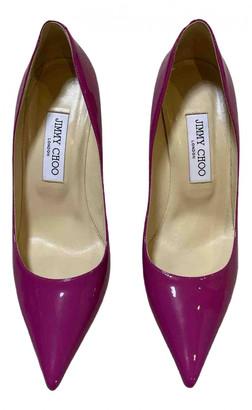 Jimmy Choo Anouk Purple Patent leather Heels