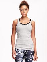 Old Navy Go-Dry Fitted Rib-Knit Tank for Women