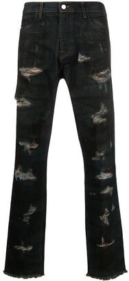 424 Distressed Straight-Leg Jeans
