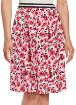 Kate Spade Floral-Print Pleated Skirt