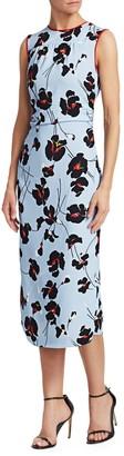 N°21 Floral Print Sleeveless Midi Sheath Dress