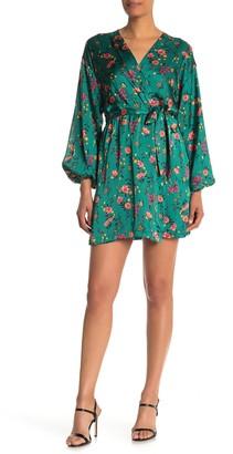 Socialite Floral Faux Wrap Dress
