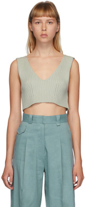 Low Classic Green Rib Knit Tank