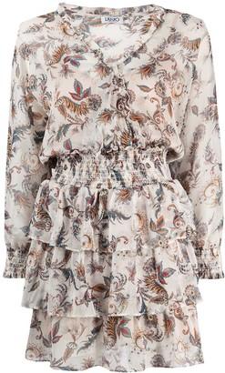 Liu Jo Paisley-Print Layered Dress