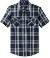 American Rag Men's Short-Sleeve Plaid Shirt, Only at Macy's