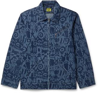 IGGY - Printed Denim Jacket - Men - Blue