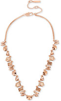 Kenneth Cole New York Rose Gold-Tone Crystal and Metallic Collar Necklace
