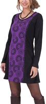 Aller Simplement Black & Purple Circle Sheath Dress
