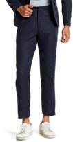 Topman Navy Speckle Print Flat Front Suit Separates Pant