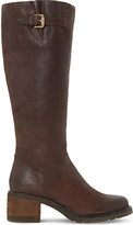 Dune Tedmund knee-high distressed leather boots