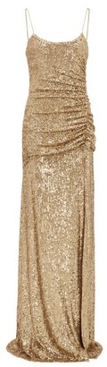 Dundas Gathered Sequin-embellished Gown - Gold