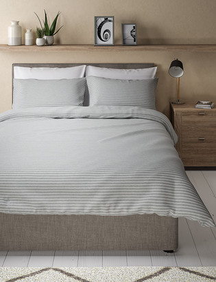Marks and Spencer Jersey Striped Bedding Set