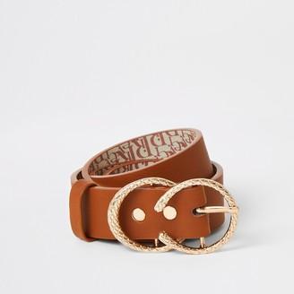 River Island Girls Tan double ring belt