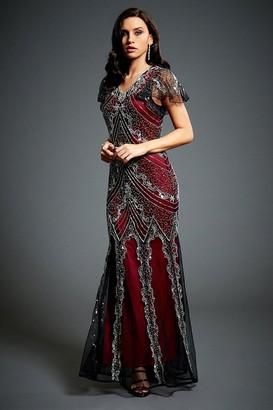 Jywal London Sophia Embellished Evening Maxi Dress