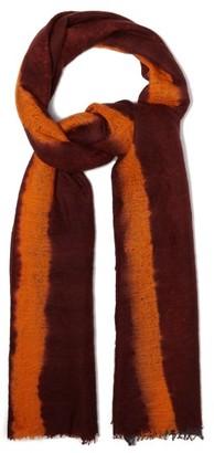 Allude Tie-dye Cashmere Scarf - Womens - Orange Multi