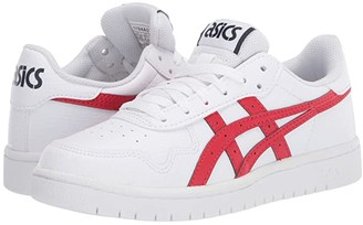 Asics Kids Japan S GS (Big Kid) (White/Classic Red) Girl's Shoes