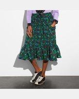 Coach Daisy Print Ruffle Skirt