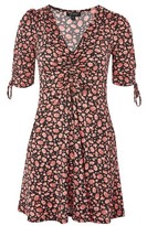 Topshop PETITE Ruched Ditsy Tea Dress