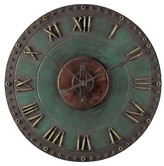 Lazy Susan 31.5 in. Marilia Verde With Gold Wall Clock