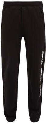 Moncler Logo-print Cotton-jersey Track Pants - Mens - Black