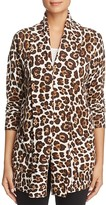 MICHAEL Michael Kors Leopard Print Cardigan