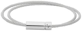 Le Gramme Silver Slick Polished Le 9 Grammes Double Wrap Cable Bracelet