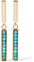 Isabel Marant Gold-tone Howlite Earrings - one size