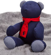Ralph Lauren Striped Plush Bear with Scarf