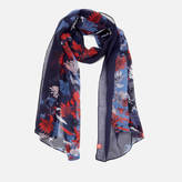 Joules Women's Wensley Woven Scarf - French Navy Fay Floral
