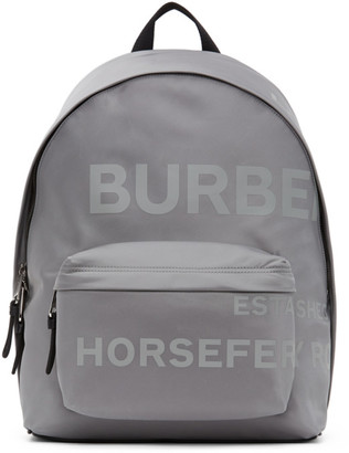 Burberry Grey Logo Horseferry Backpack