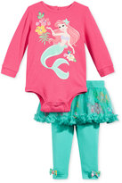Nannette 2-Pc. Little Mermaid Bodysuit & Tutu Leggings Set, Baby Girls (0-24 months)