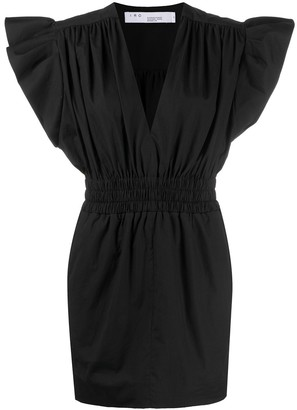 IRO Galena frill sleeve mini dress