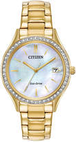 Citizen Eco-Drive Women's Gold-Tone Stainless Steel Bracelet Watch 34mm, Created for Macy's