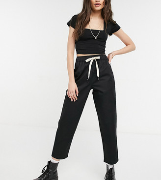 Reclaimed Vintage cropped relaxed pant in black