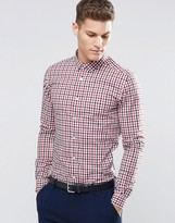 Asos Skinny Shirt In 2 Color Check With Long Sleeves