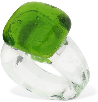 Maryam Nassir Zadeh Square Glass Ring