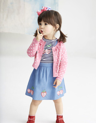 Monsoon Baby Cherry Pinafore Dress with T-shirt Blue