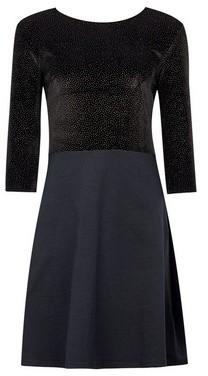 Dorothy Perkins Womens Black Jersey Glitter 2In1 Dress, Black