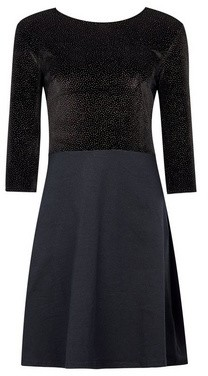 Dorothy Perkins Womens Black Jersey Glitter 2In1 Dress, Black