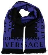 Versace It00630 Viola Purple 100% Wool Mens Scarf.